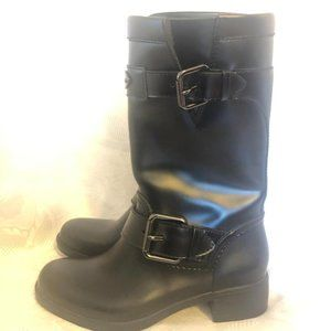 COACH Dual Buckle Leather Boots!!